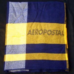 Vintage AEROPOSTAL Woven Logo In Flight Blanket