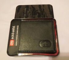 Men's ECKO UNLTD Unllimited Black Leather Famous RHINO Pass Case BiFold Wallet