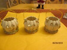 Set of 3 Lenox Halloween Pumpkin Votives New No Box