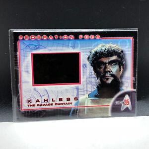STAR TREK 35th ANNIVERSARY film cell insert card federation foes ff4 Kahless 35