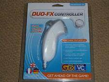 Nintendo Wii Nunchuk U & Blanco Totalmente Nuevo! Datel DUO-FX Controlador Nunchuck Turbo
