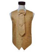 Man's yellow gold color paisley 4 pcs vest size ( 3 XL )