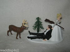 Wedding Party Reception Buck Deer Hunter Redneck Hunting Cake Topper