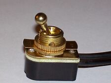 ON/OFF BRASS TOGGLE CANOPY SWITCH SINGLE CIRCUIT LAMP PART NEW 31150K