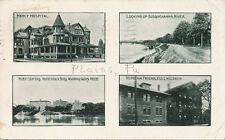 Plains PA * 4 Scenes Multi-View PC 1910 * Luzerne Co. Wilkes-Barre
