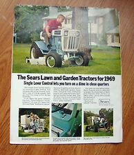 1969 Sears Lawn & Garden Tractor Lawn Mower Ad