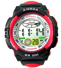 Men Boy Sports Digital Watch Alarm Date Day Watchlight Stopwatch Water Resistant