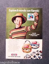 [GCG]  N814 - Advertising Pubblicità -1974- RAMEK LATTE E CREMA,ESPLORA IL MONDO