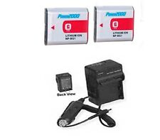 2X Batteries + Charger for Sony DSC-HX10 DSC-HX10V DSC-HX20 DSC-H90 DSC-HX30