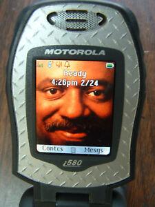 Nextel iDEN Motorola Grey I580 SIM  PTT+ Direct Talk RUGGED *TESTED*