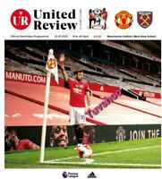 Manchester United v West Ham United RESTART Programme 22/7/2020! READY TO POST!!