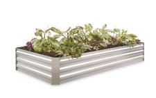 Large Planter Box Galvanized Steel Herb Veggies Flower Plant Raised Garden Bed