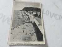 Carte Postale Période Pesaro Lungomare Et Monte Ardizio Shipped 1956