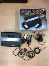 Vintage ATARI 7800 System Console With Box And 2 Controllers And Power Supply