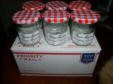 BONNE MAMAN France 6 Empty 13 oz. Glass Jam Jars Craft Storage Cooking Gifts