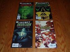 Lot of 4 Secret Invasion Front Line Marvel Comic Books #s 1 2 3 5 of 5