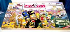 The Simpsons 2001 Monopoly Board Game With 6 Collectible Pewter Pieces