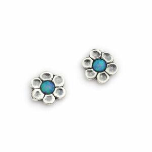 Hand Made Aviv Jewellery Sterling Silver & Opal Earring ASE044