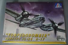 Italeri 1:72 Scale TORPEDO BOMBER JUNKERS JU-88 A-17 Kit no.038