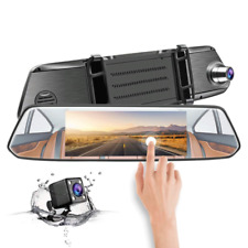 7'' HD 1080p Dual Lens Car Camera Vehicle Rearview Mirror DVR Dash Cam Recorder