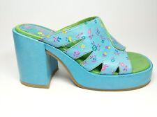 Miz Mooz high block heel leather mules uk 4 eu 37