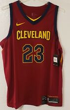 Nike NBA Authentic Cleveland Cavaliers Lebron James Jersey Mens 52 XL 863018-677