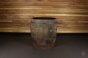 Solid Oak Used 3/4 Size Whisky Barrel Wooden Keg Rustic Reclaimed Barrels