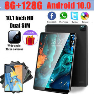 """10"""" Inch Android 10.0 Tablet PC 128GB Octa Core Dual SIM Camera GPS Phablet NEW"""