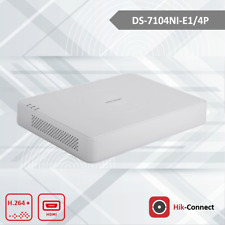 Hikvision NVR DS-7104NI-E1/4P - 4CH PoE 4MP 50fps - 40 Mbps - (HDD Not Included)