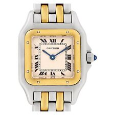 CARTIER Panthere 18K Yellow Gold & Stainless Steel Quartz 22mm Watch(Authentic)