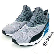 Nike Air Max 90 EZ Grey/Black-Laser Blue Men's Sz 10.5 Running Shoes AO1745-004