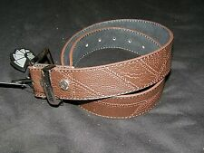 Armourdillo NWT Mens Brown Duststorm Leather Belt Size L 33 34 35 36 37 Skater