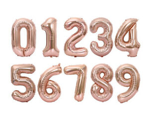 16'' 32'' 40'' Inch Numbers Party Foil Balloon Decorations Supplies Multi-Colors