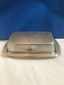 "Modern Chrome plated Butter Dish 7"""