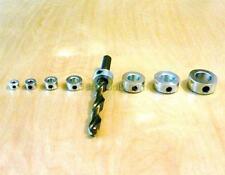 "9 pc Drill Bit Shaft Depth Stop Collar 1/8,3/16,1/4,5/16,3/8,7/16,1/2,9/16,5/8"""