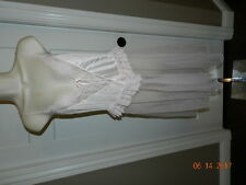 L Sweeping LACY SHEER PINK CHIFFON NEGLIGEE LINGERIE NIGHTGOWN