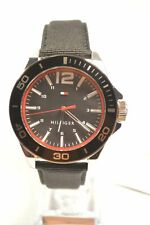 Tommy Hilfiger 1791284 Black Leather and Nylon Strap Men's Watch