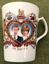 Royal Fine Bone China Mug Charles & Diana 1981 Nanrich Pottery Stafford England