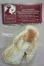 1989 Diecut Kathy Lawrence Angel Children 42 Section Foldout Garland B Shackman