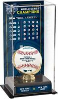 New York Yankees 2000 WS Champs Display Case with Series Listing Image