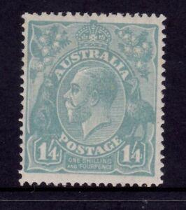 Australia KGV Head SMW P14 - 1/4 Turquoise MLH SG 93