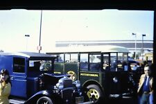 #8 35mm slide - Vintage - Collectibles -Photo - cars train people parking lot