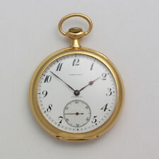 RARE Vintage 18K Yellow Gold 46mm 20J Ed Koehn for Tiffany & Co. Pocket Watch