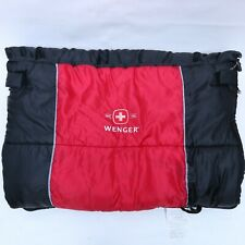 Swiss Wenger Sleeping Bag Black and Red Camping Outdoor Travel 33 x 86 inches