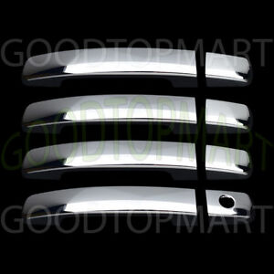 FOR NISSAN SENTRA 2007 08 09 10 11 12 CHROME 4 DOOR HANDLE COVER W/OUT SMART KEY