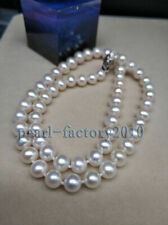 gorgeous AAAA++ GENUINE WHITE AKOYA PEARL NECKLACE 7MM