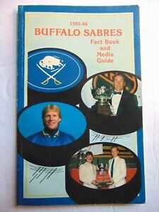 1985-1986 NHL BUFFALO SABRES media guide