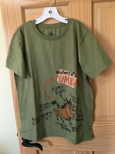 NEW Disney Store Pumba Tee T-Shirt Boys Green The Lion King Size 5/6,7/8,10/12