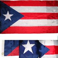 3x5 Embroidered Sewn Puerto Rico Rican Nylon Flag 3'x5' Made in USA