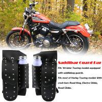 Moto Sacoche de selle Garde Sac Porte-Bouteille Pour Harley Touring FLHT FLHR